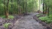 Clearing and installation of a private road